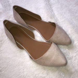 Charlotte Russe d'Orsay Flat Light Pink/Bone Color